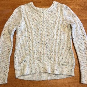 Hollister cream colored knitted sweater